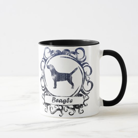 Classy Weathered Beagle Mug