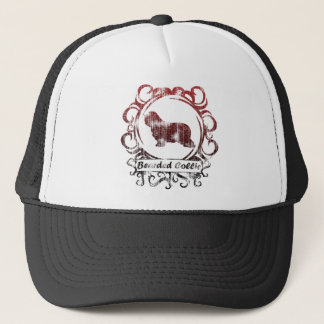 Classy Weathered Bearded Collie Trucker Hat