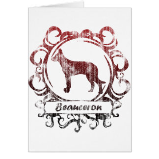 Classy Weathered Beauceron Card