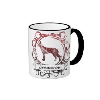 Classy Weathered Beauceron Ringer Mug