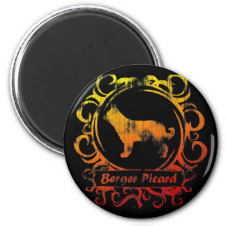 Classy Weathered Berger Picard 2 Inch Round Magnet