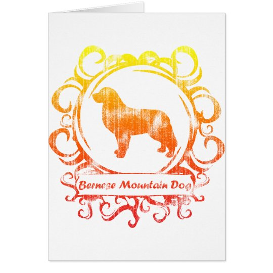 Classy Weathered Bernese Mountain Dog Card
