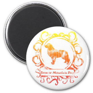Classy Weathered Bernese Mountain Dog Magnet