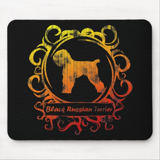 Classy Weathered Black Russian Terrier Mouse Pad