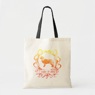 Classy Weathered Border Collie Budget Tote Bag