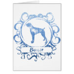 Classy Weathered Boxer Greeting Card