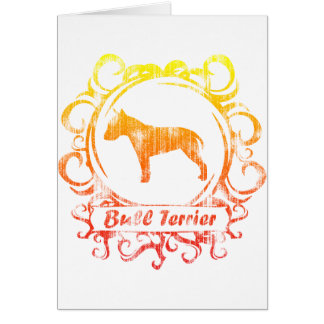 Classy Weathered Bull Terrier Greeting Card