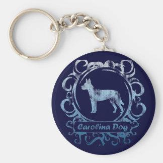 Classy Weathered Carolina Dog Basic Round Button Keychain