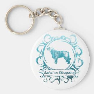 Classy Weathered Catalan Sheepdog Keychain