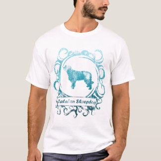 Classy Weathered Catalan Sheepdog Ladies T-Shirt