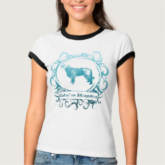 Classy Weathered Catalan Sheepdog Ladies T-Shirt