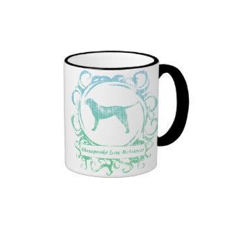 Classy Weathered Chesapeake Bay Retriever Ringer Coffee Mug