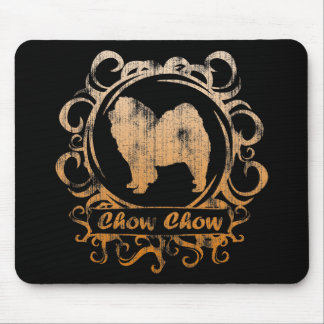 Classy Weathered Chow Chow Mouse Pads