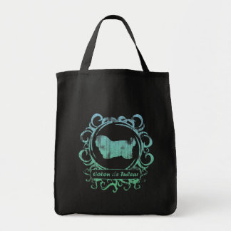 Classy Weathered Coton de Tulear Grocery Tote Bag