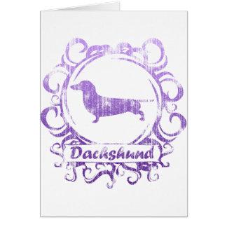 Classy Weathered Dachshund Greeting Card