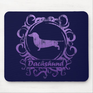 Classy Weathered Dachshund Mouse Pad