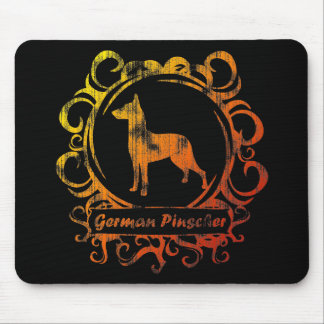 Classy Weathered German Pinscher Mouse Pad