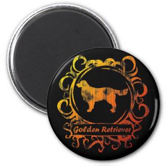 Classy Weathered Golden Retriever Magnet