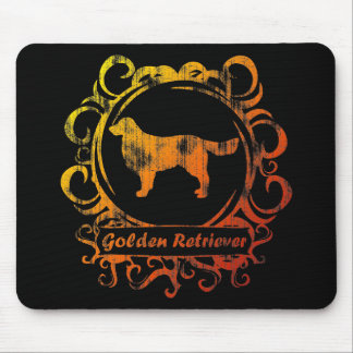 Classy Weathered Golden Retriever Mouse Pad