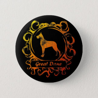 Classy Weathered Great Dane Pinback Button
