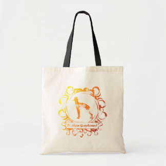 Classy Weathered Italian Greyhound Tote Bags