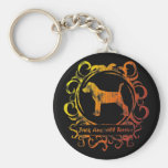 Classy Weathered Jack Russell Terrier Key Chains