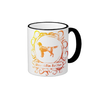 Classy Weathered Llewellin Setter Ringer Mug