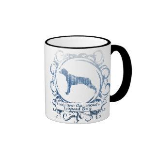 Classy Weathered Louisiana Catahoula Leopard Dog Ringer Coffee Mug