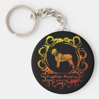 Classy Weathered Mastiff Keychain