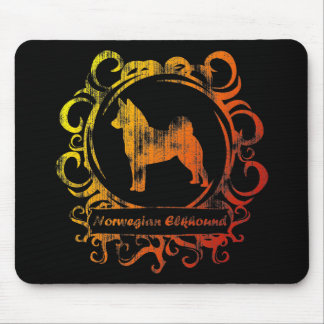 Classy Weathered Norwegian Elkhound Mouse Pad