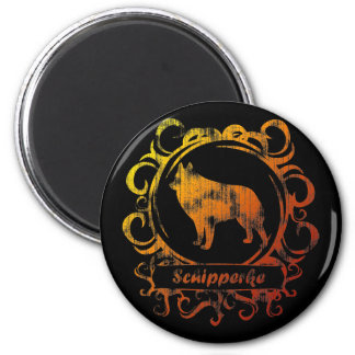 Classy Weathered Schipperke Magnet
