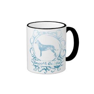 Classy Weathered Smooth Collie Ringer Coffee Mug