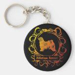 Classy Weathered Tibetan Terrier Key Chain