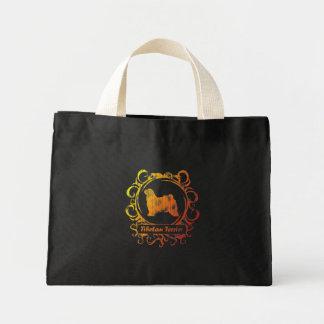Classy Weathered Tibetan Terrier Mini Tote Bag
