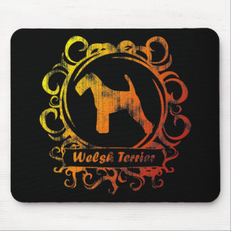 Classy Weathered Welsh Terrier Mouse Pad