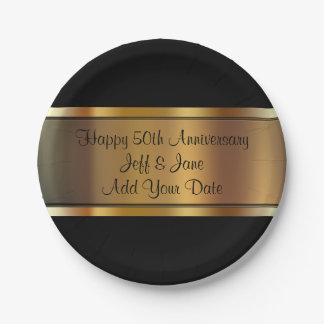 Classy Wedding Anniversary 7 Inch Paper Plate