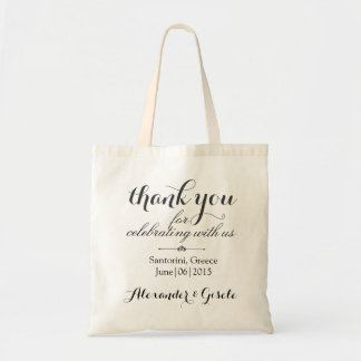 Classy Wedding Thank You Party Favor Tote Bag