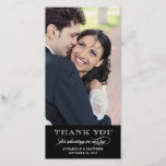 """Classy Wedding Thank You Photo Card<br><div class=""""desc"""">Other colors available in our shop!</div>"""