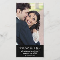 Classy Wedding Thank You Photo Card