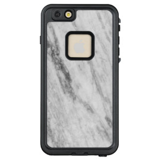 Classy White And Gray Marble Texture Look LifeProof® FRĒ® iPhone 6/6s Plus Case