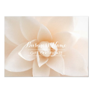 Classy White Floral Gift Certificate 4.5x6.25 Paper Invitation Card