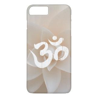 Classy White Flower Om Symbol Yoga iPhone 7 Plus Case