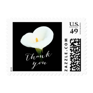 Classy White Lily Thank You Stamp