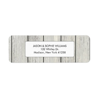 Classy White Painted Wood Label