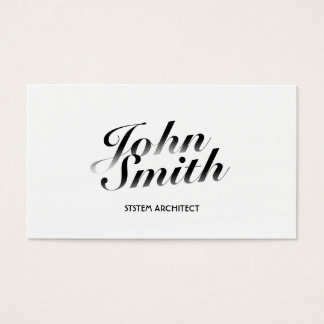 Classy White System Architect Business Card