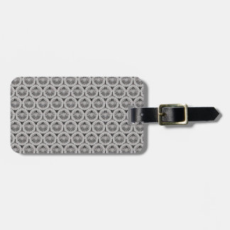 Classy white texture luggage tag