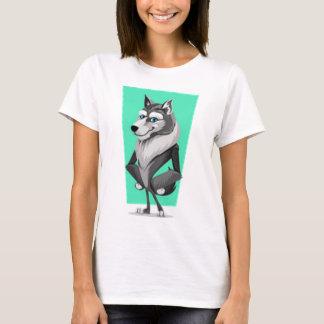 Classy Wolf Cartoon T-Shirt
