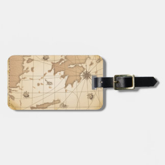 Classy World old map Tags For Luggage