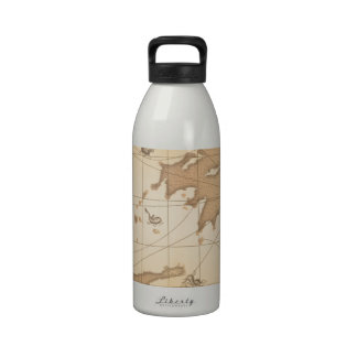 Classy World old map Water Bottle