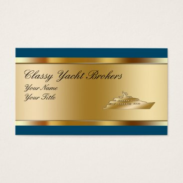 Wedding Themed Classy Yacht Broker Business Cards